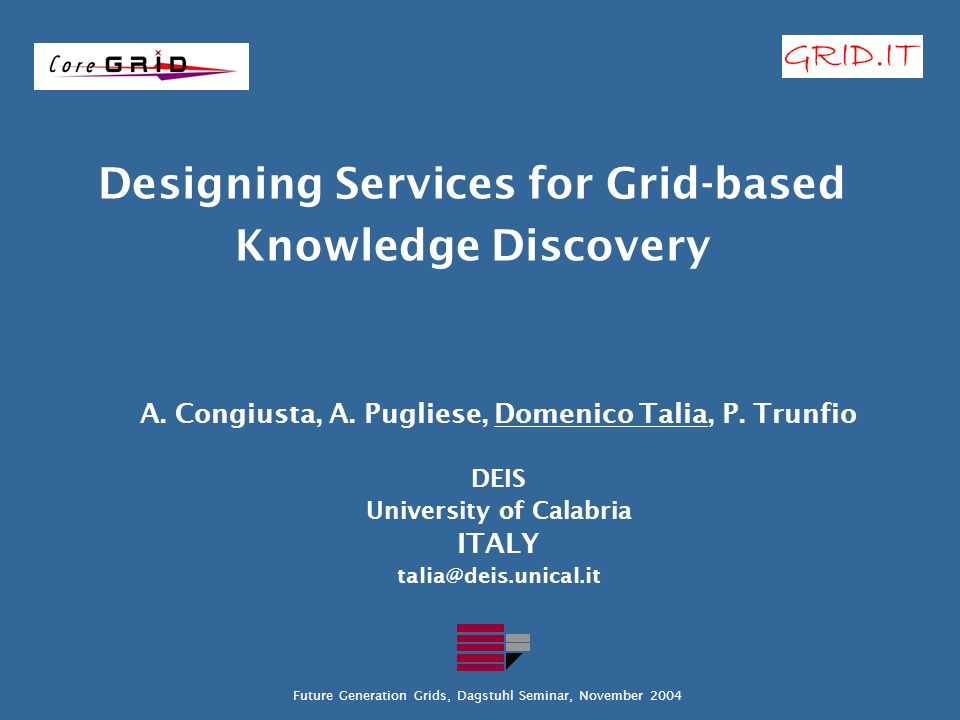 Designing Services for Grid-based Knowledge Discovery A.