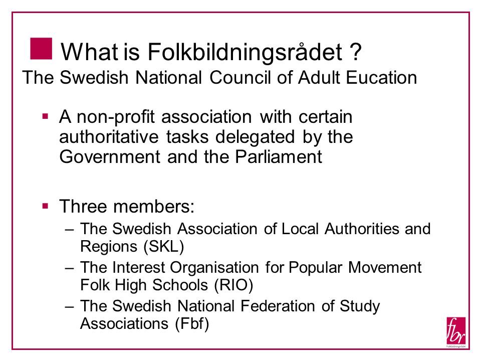 What is Folkbildningsrådet .