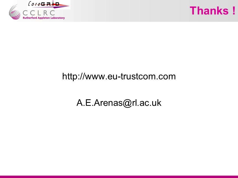 Thanks ! http://www.eu-trustcom.com A.E.Arenas@rl.ac.uk