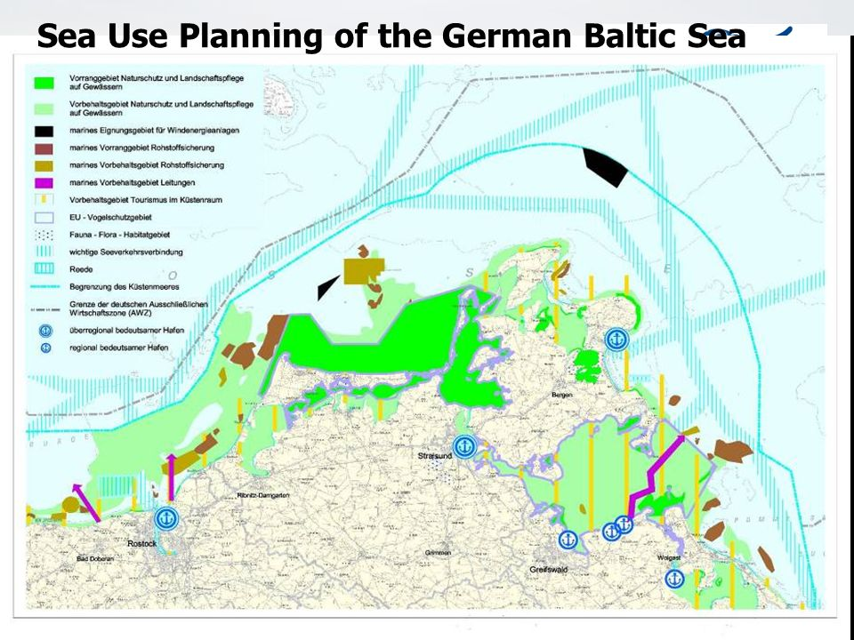 Adria Region Meeting Montenegro 27.03.07 Sea Use Planning of the German Baltic Sea