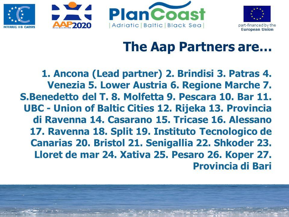 12 1. Ancona (Lead partner) 2. Brindisi 3. Patras 4.