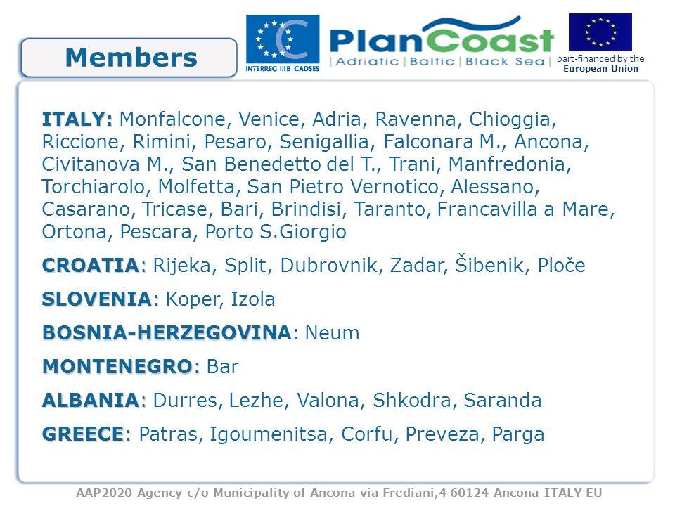 AAP2020 Agency c/o Municipality of Ancona via Frediani,4 60124 Ancona ITALY EU part-financed by the European Union Presidents 1999-Renato Galeazzi, Mayor of Ancona(I) 2000-Ivan Škarić, Mayor of Spalato(HR) 2001-Simone Di C.
