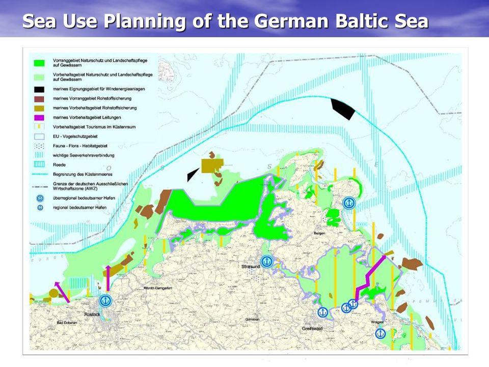 Sea Use Planning of the German Baltic Sea