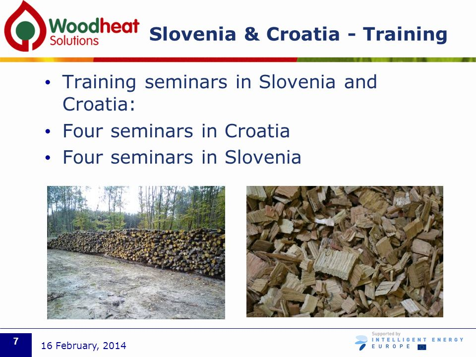Slovenia & Croatia - Training Training seminars in Slovenia and Croatia: Four seminars in Croatia Four seminars in Slovenia 16 February,