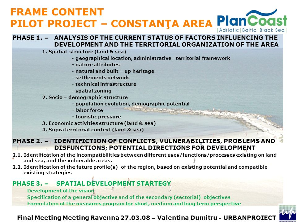 PHASE 1. – ANALYSIS OF THE CURRENT STATUS OF FACTORS INFLUENCING THE DEVELOPMENT AND THE TERRITORIAL ORGANIZATION OF THE AREA 1. Spatial structure (la