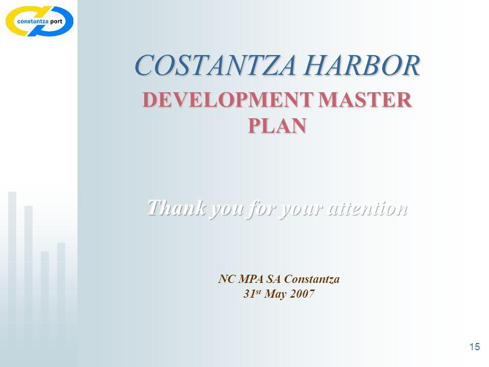 15 COSTANTZA HARBOR DEVELOPMENT MASTER PLAN NC MPA SA Constantza 31 st May 2007