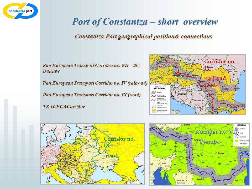 3 Port of Constantza – short overview Constantza Port geographical position& connections Corridor no.