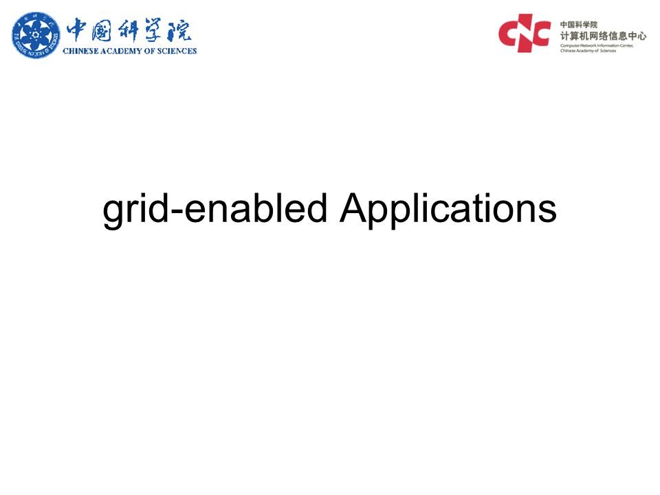 grid-enabled Applications