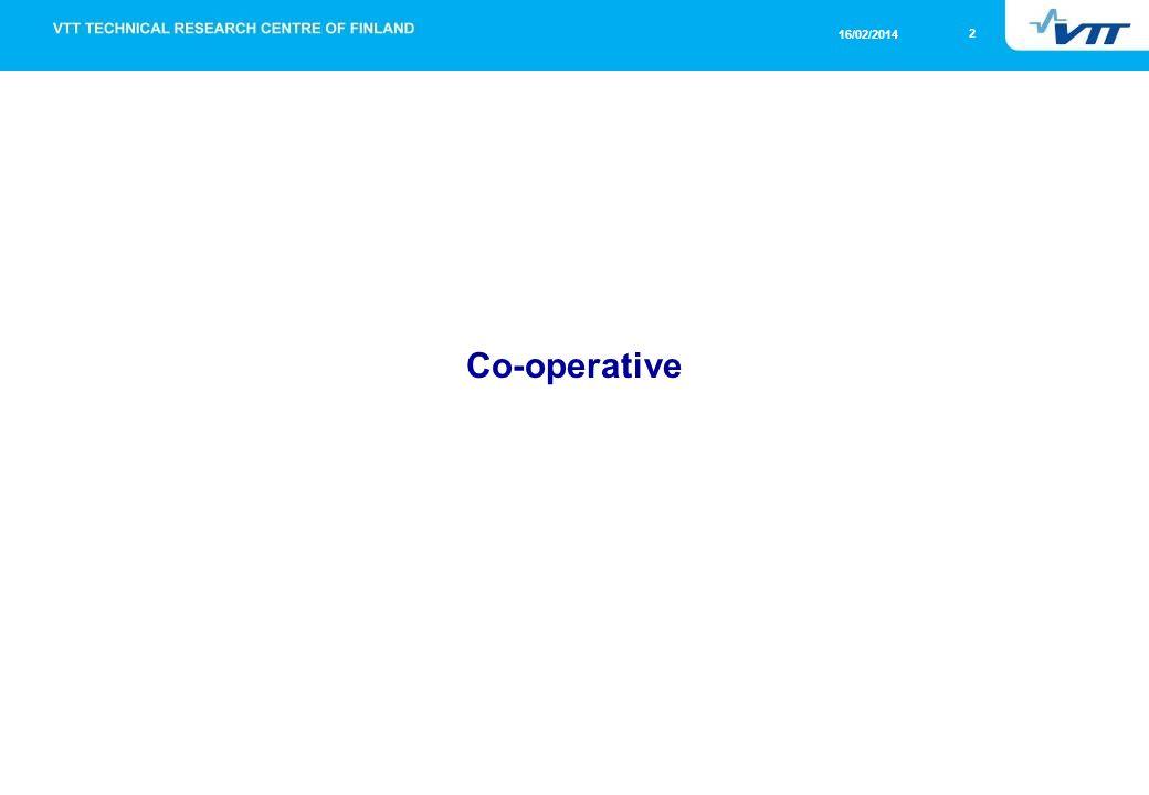 2 16/02/2014 Co-operative