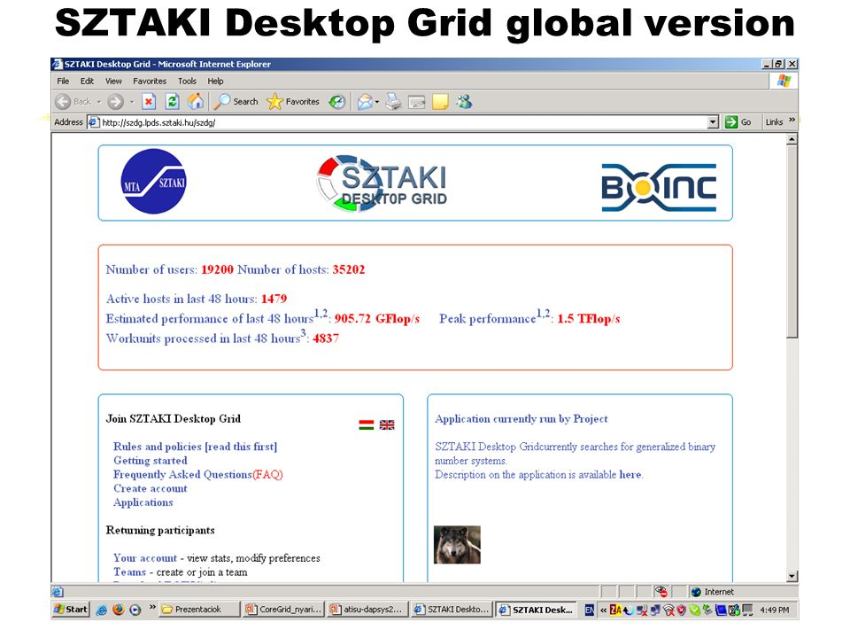 SZTAKI Desktop Grid global version