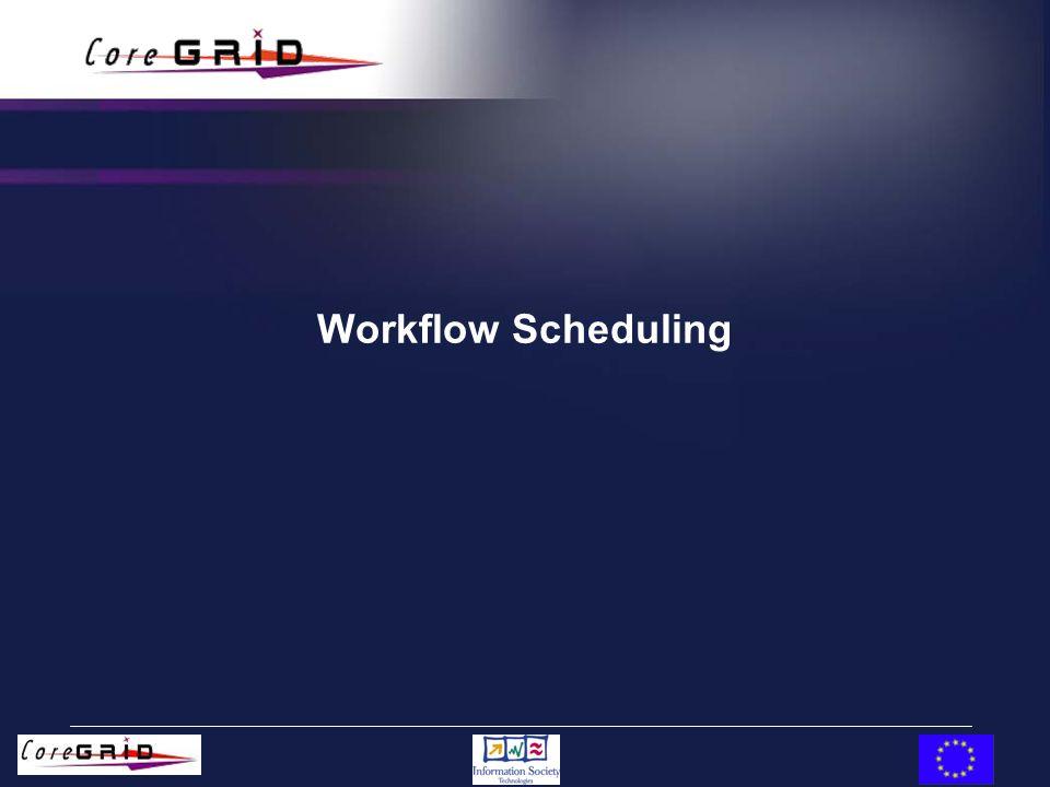 Workflow Scheduling