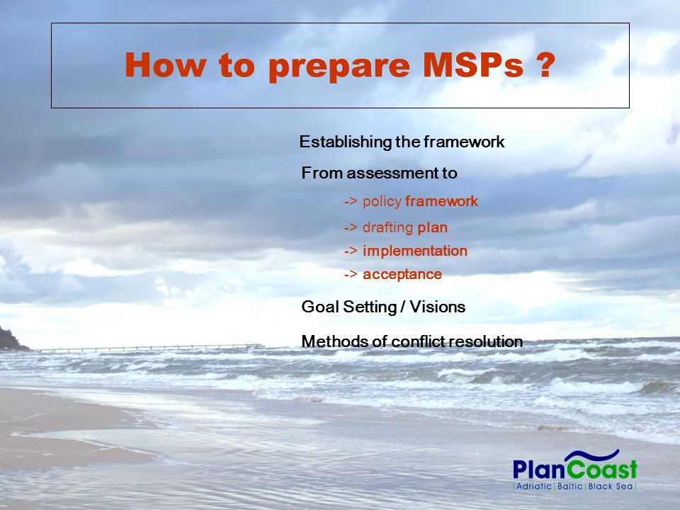 How to prepare MSPs .
