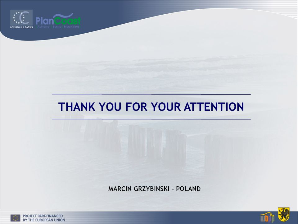 THANK YOU FOR YOUR ATTENTION MARCIN GRZYBINSKI - POLAND