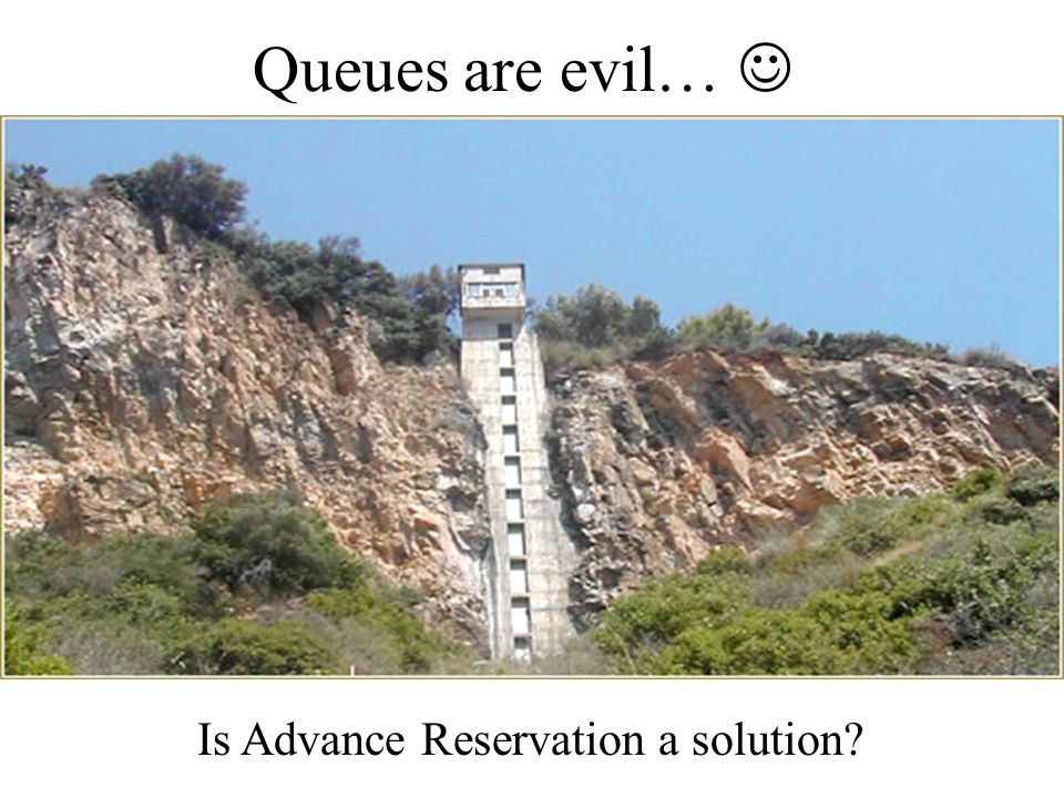 Queues are evil… Is Advance Reservation a solution