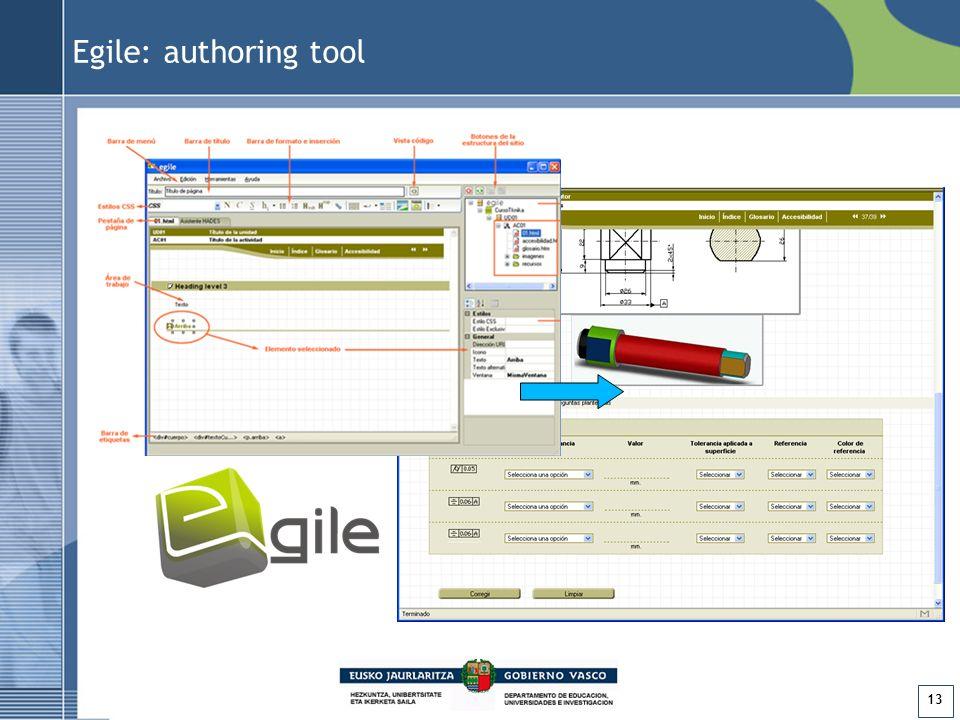 13 Egile: authoring tool