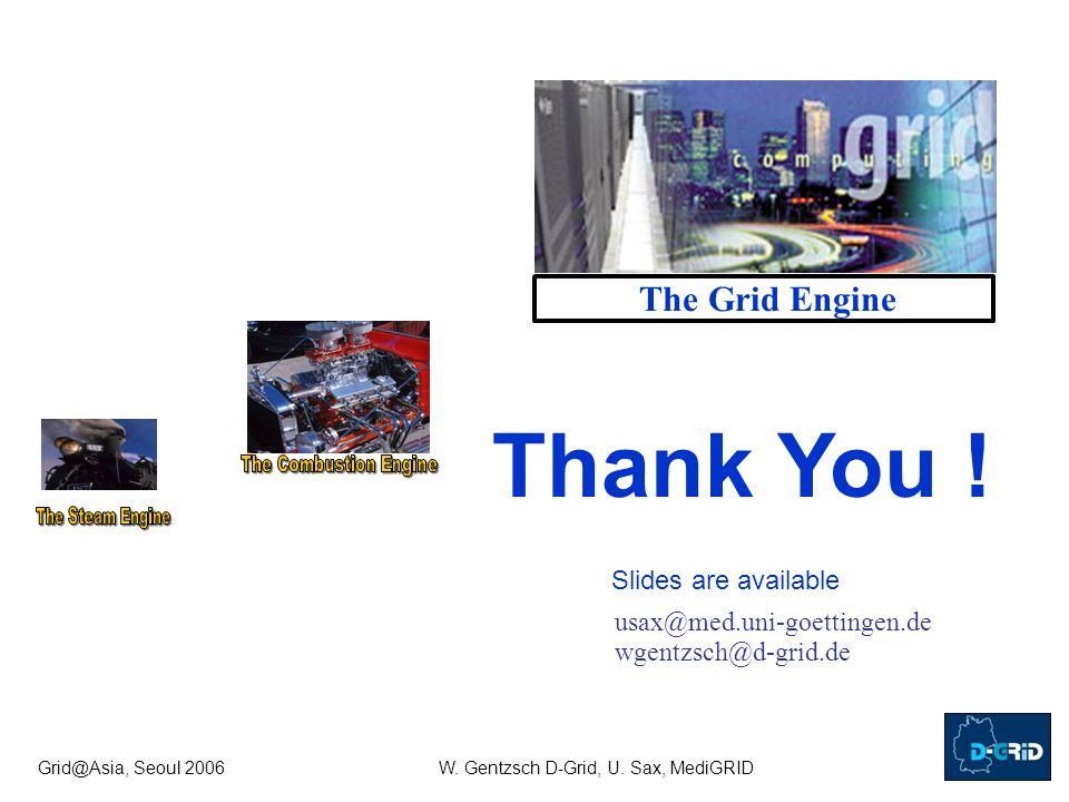 Grid@Asia, Seoul 2006W. Gentzsch D-Grid, U.