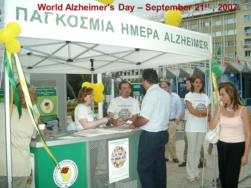 World Alzheimer's Day – September 21 st, 2007
