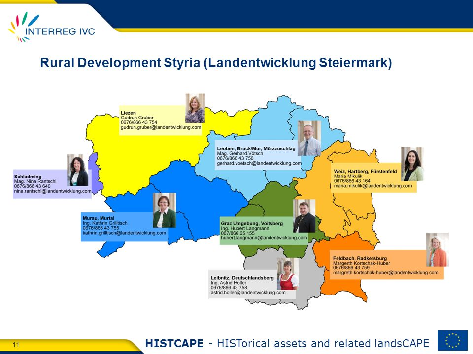 11 HISTCAPE - HISTorical assets and related landsCAPE Rural Development Styria (Landentwicklung Steiermark)
