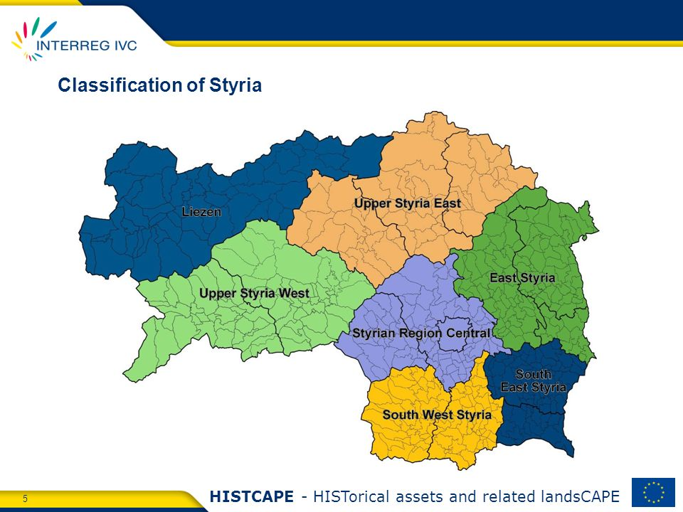 5 HISTCAPE - HISTorical assets and related landsCAPE Classification of Styria