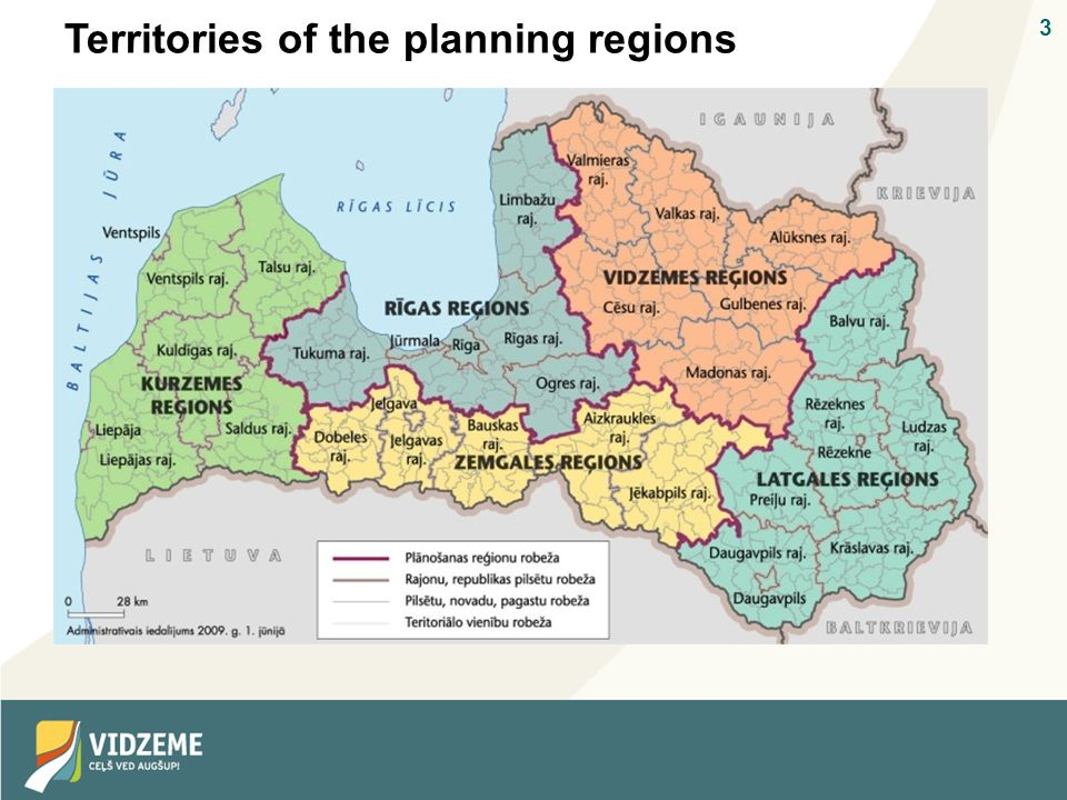 3 Territories of the planning regions