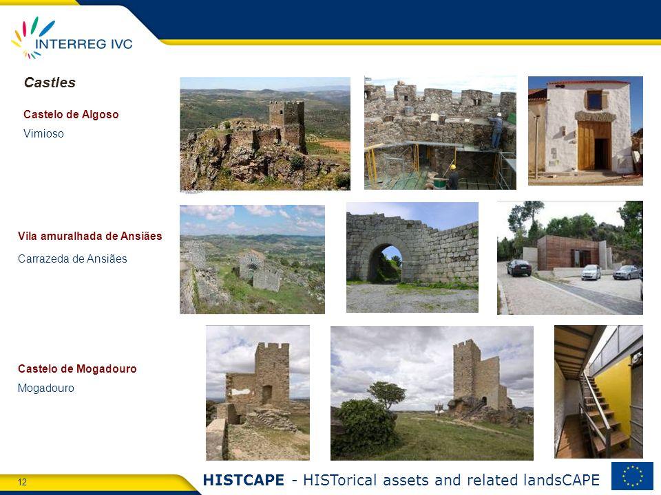 12 HISTCAPE - HISTorical assets and related landsCAPE Castelo de Algoso Vimioso Castelo de Mogadouro Mogadouro Vila amuralhada de Ansiães Carrazeda de Ansiães Castles