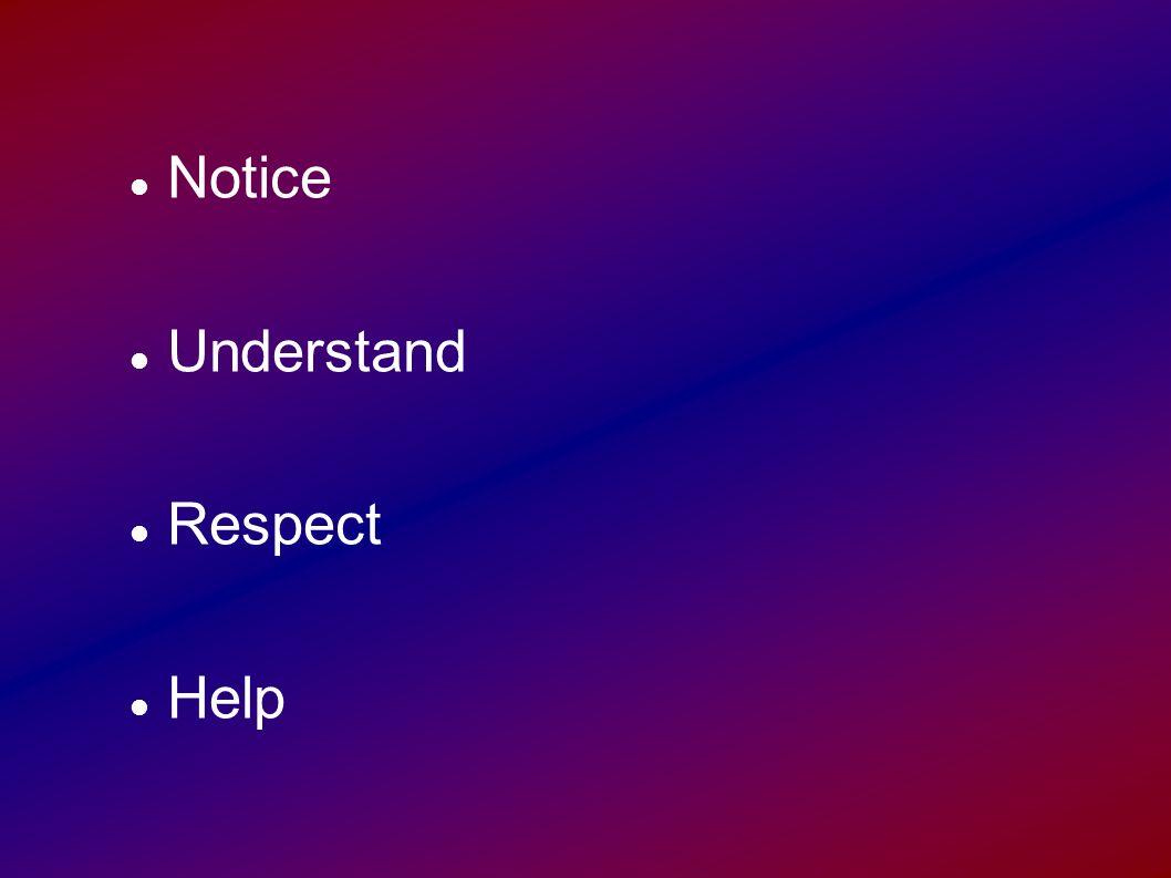 Notice Understand Respect Help