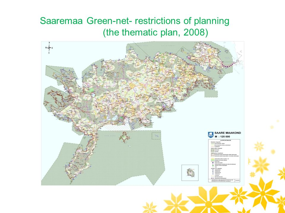 Saaremaa Green-net- restrictions of planning (the thematic plan, 2008)