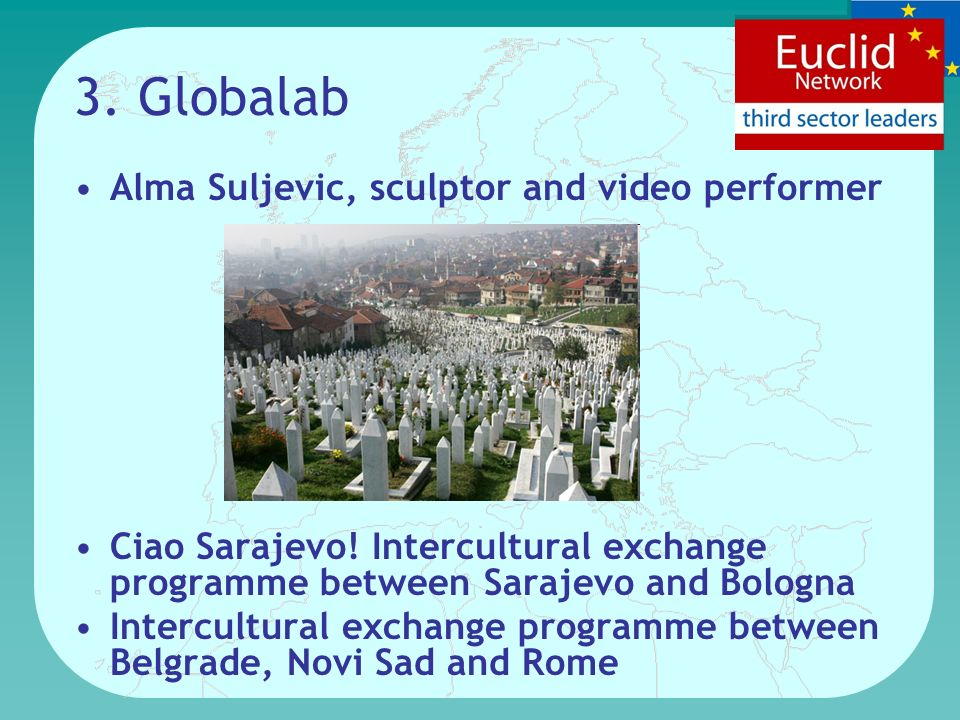 3. Globalab Alma Suljevic, sculptor and video performer Ciao Sarajevo.