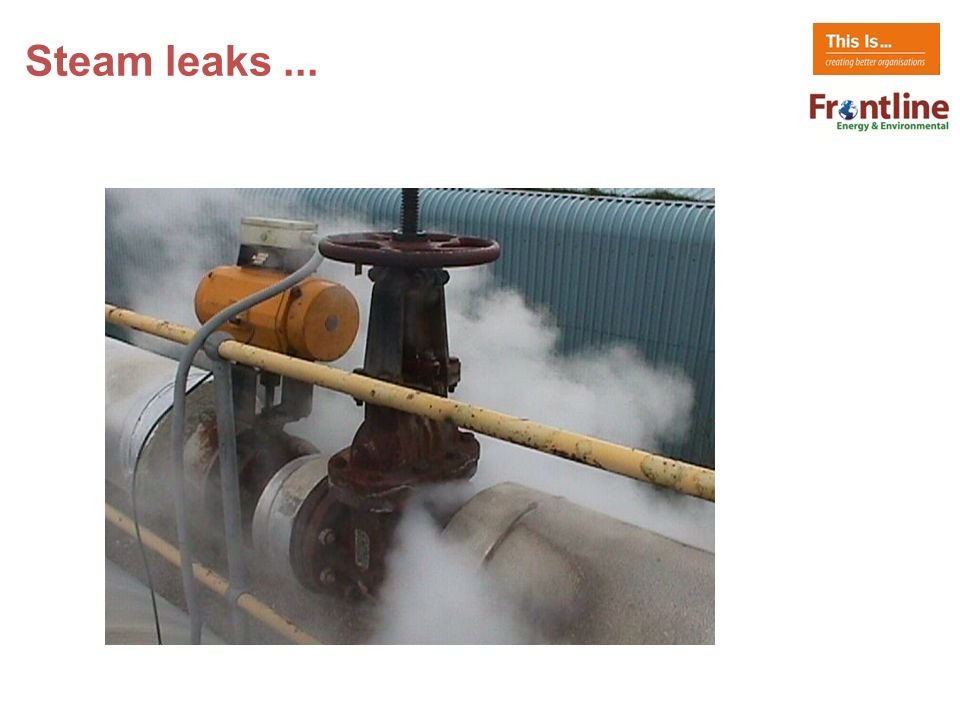 Steam leaks...
