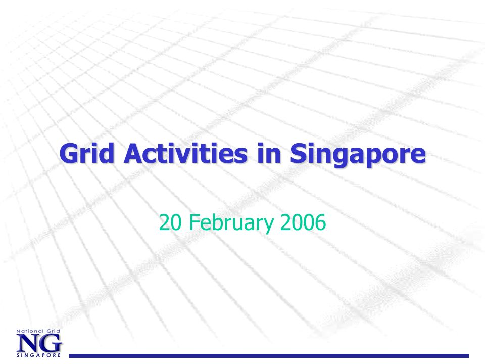 National Grid Vision to facilitate the seamless use of an integrated cyber infrastructure in a secure, effective & efficient manner to advance scientific, engineering & biomedical R&D, with the longer term goal of transforming the Singapore economy using grid