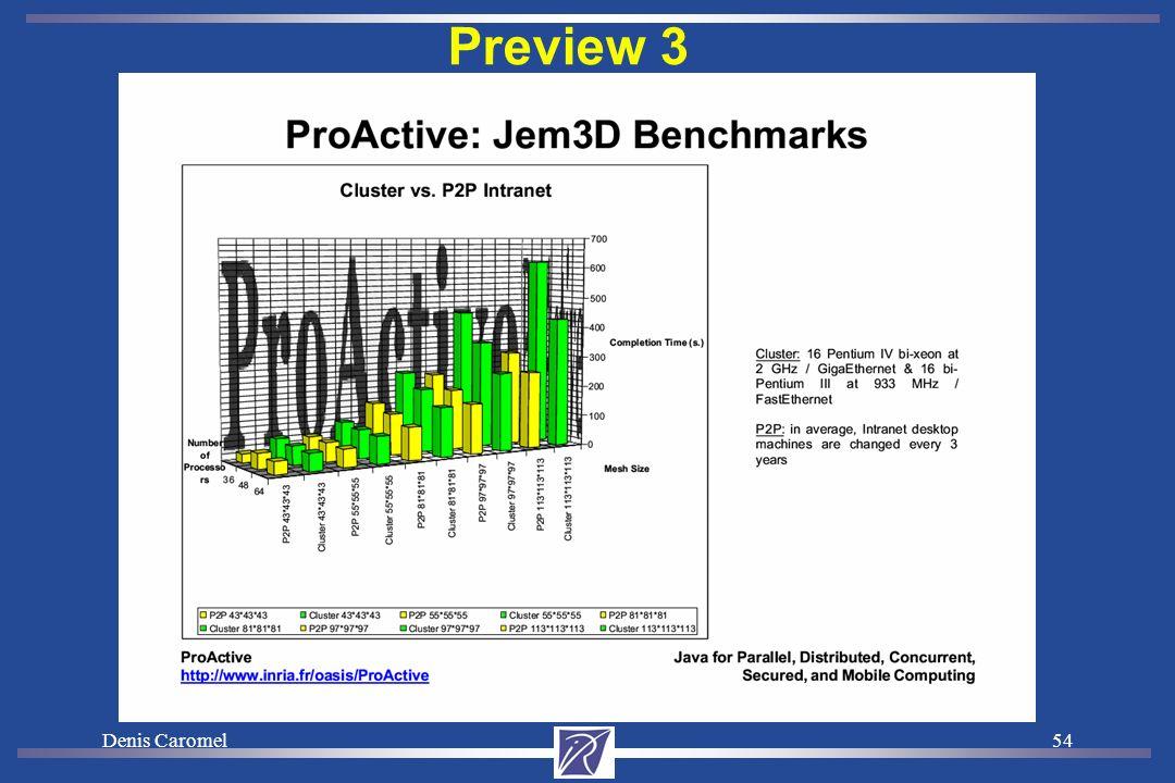 Denis Caromel53 3. BENCHMARKS