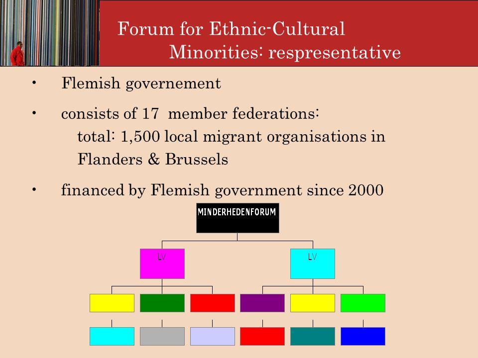 Forum for Etnical-cultural minorities: organisation
