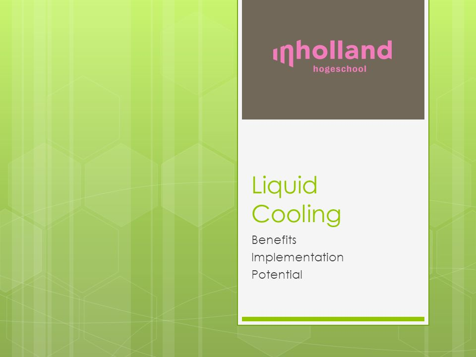 Liquid Cooling Benefits Implementation Potential