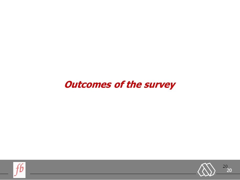 20 Outcomes of the survey