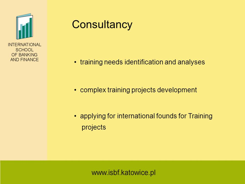 Consultancy training needs identification and analyses complex training projects development applying for international founds for Training projects