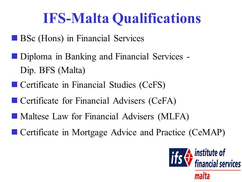 BSc (Hons) in Financial Services Diploma in Banking and Financial Services - Dip.