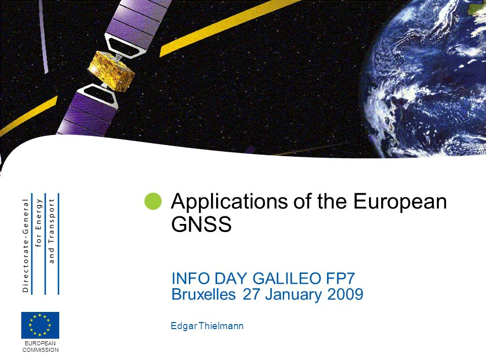 2 Market elements Foreseen applications FP 7 expectations