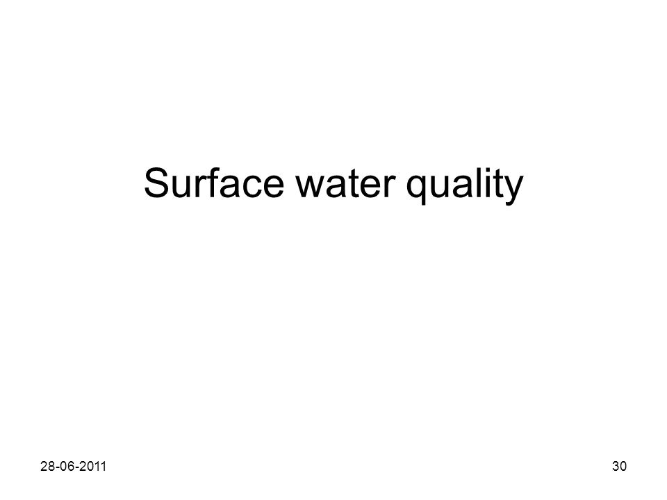 Surface water quality 28-06-201130