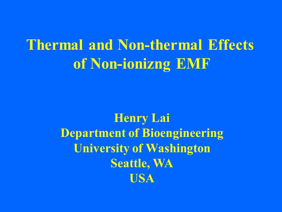 Thermal effects are relatively easy to understand.