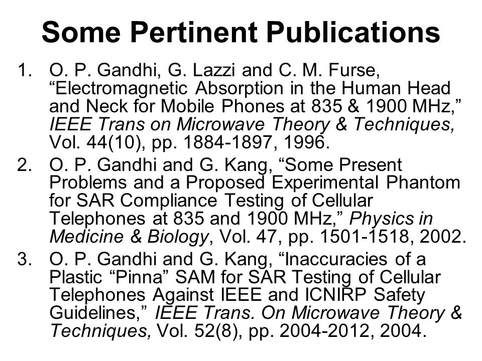 Effect of the pinna thickness on the brain and body tissue SAR is given in the following table: Frequency (MHz) (irradiated power in mW) Antenna length (mm) Tissue Pinna thickness (mm) 2014106 Peak 1-g SAR 1900 (125 mW)40 Body tissue Brain 0.51 0.20 0.83 0.27 1.02 0.33 1.29 0.46 835 (600 mW)80 Body tissue Brain 2.44 0.85 2.95 1.06 3.20 1.24 3.50 1.37 Table 3.