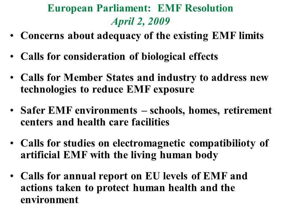 European EMF Resolution cont.