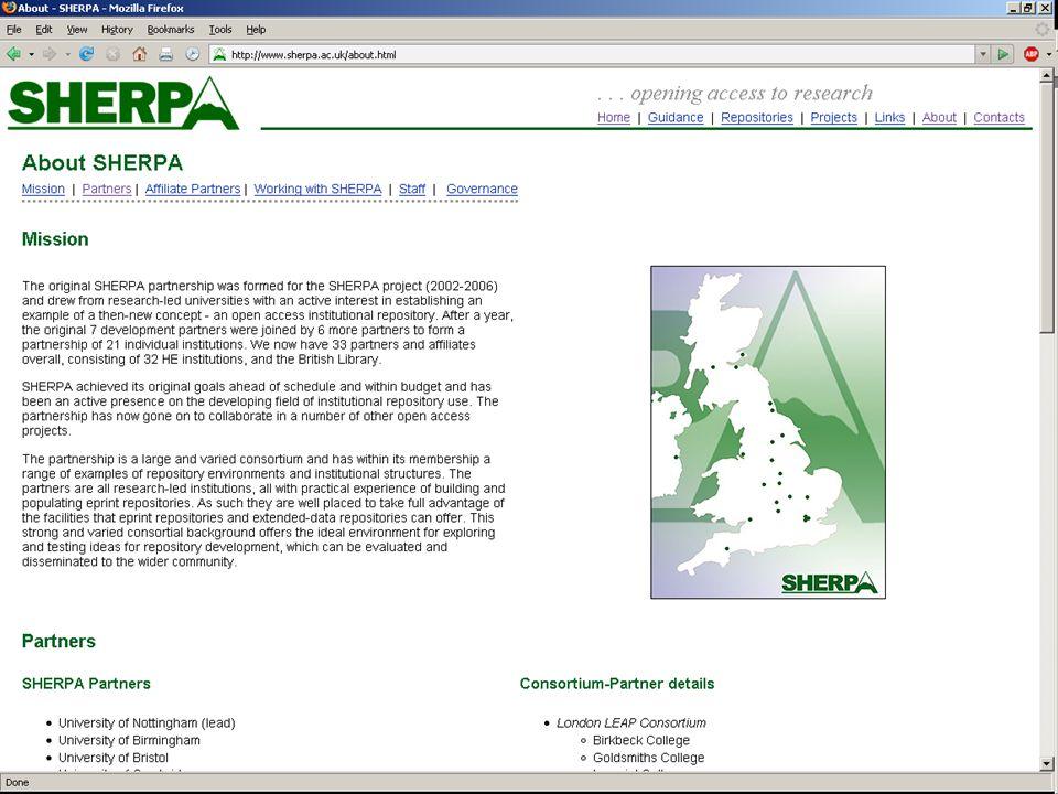 SHERPA Page