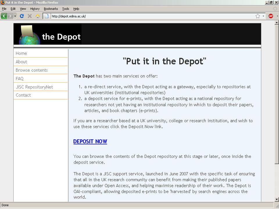 Depot Page