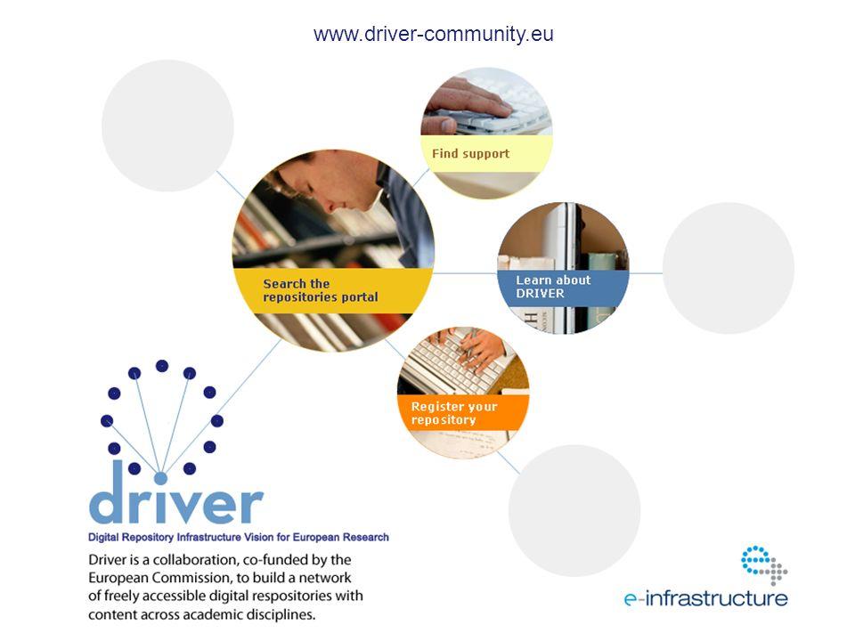 http://www.sherpa.ac.uk/ www.driver-community.eu