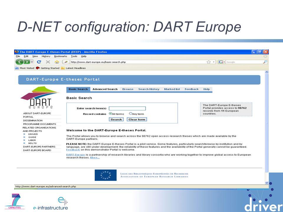 D-NET configuration: DART Europe