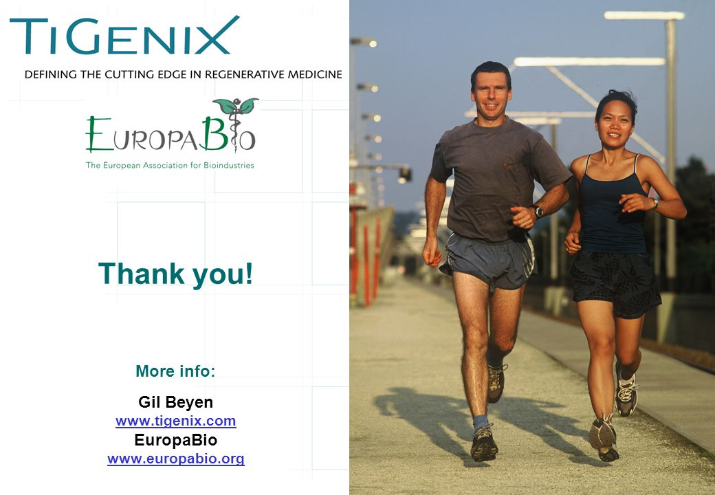 Thank you! More info: Gil Beyen   EuropaBio