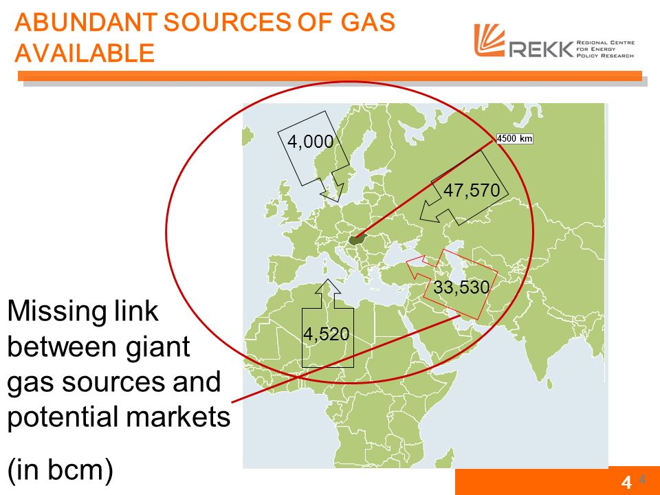4 ABUNDANT SOURCES OF GAS AVAILABLE 4500 km 4 47,570 33,530 4,000 4,520 Missing link between giant gas sources and potential markets (in bcm)