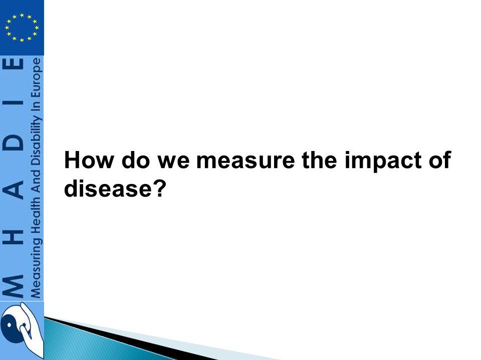 How do we measure the impact of disease?