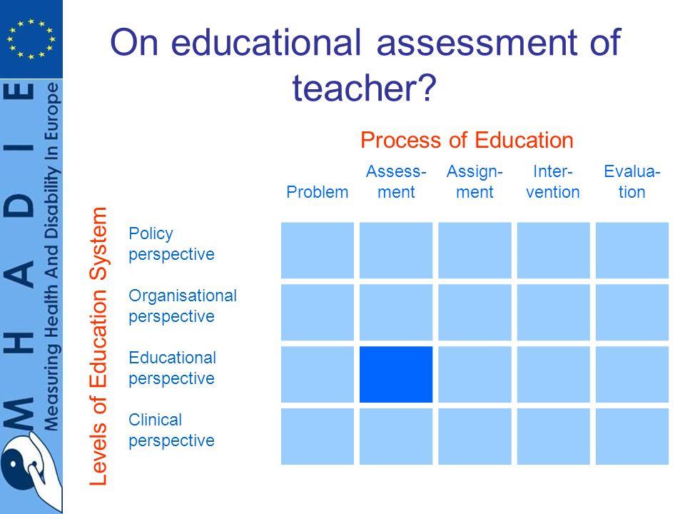 On educational assessment of teacher.