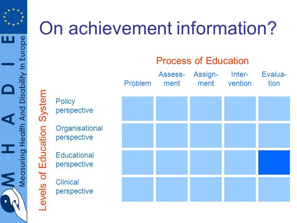 On achievement information.